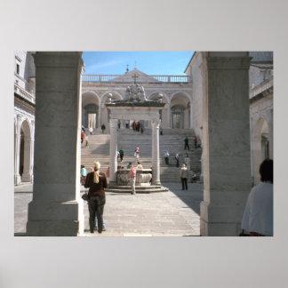 Montecassino Entering the monastery Posters