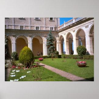 Montecassino, Garden courtyard Poster