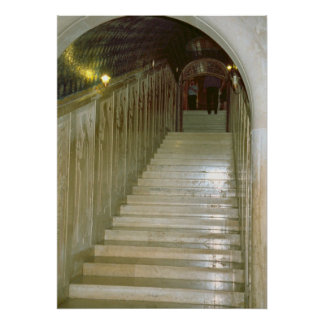 Montecassino, Marble staircase Poster
