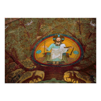 Montecassino Painting of Christ Poster