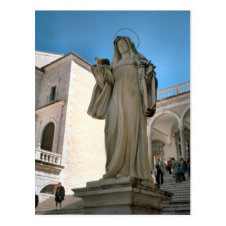 Montecassino, St Clare, sister of St Benedict Postcard
