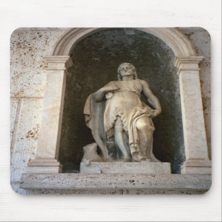 Montecassino, Statue in the courtyard Mouse Pads