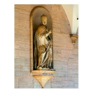 Montecassino, Statue of Pope Gregory II Postcard