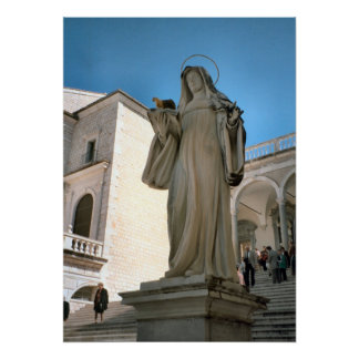 Montecassino, Statue of St Clare Poster