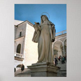 Montecassino Statue of St Clare Poster