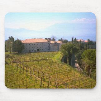 Montecassino, viñedos de la abadía tapete de ratón
