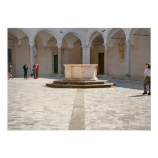 Montecassino Well in the courtyard Posters