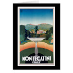 Montecatini, Italy Vintage Travel Poster Greeting Card