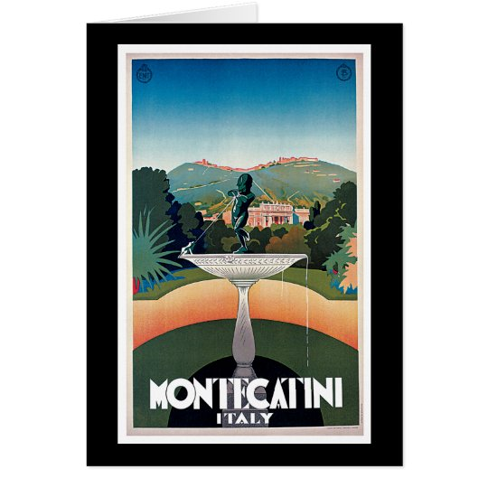 Montecatini, Italy Vintage Travel Poster Card