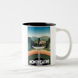 Montecatini, Italy Vintage Travel Poster Coffee Mugs