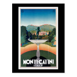 Montecatini, Italy Vintage Travel Poster Postcard