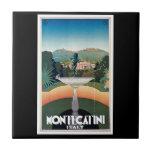 Montecatini, Italy Vintage Travel Poster Ceramic Tiles