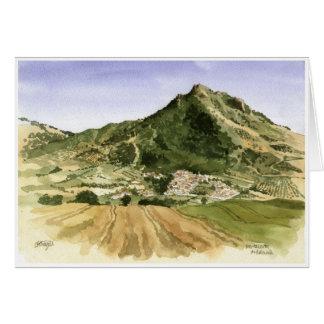 Montecorto Andalucia Greeting Card