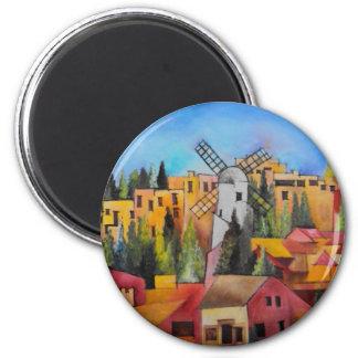 Montefiore Windmill 2 Inch Round Magnet