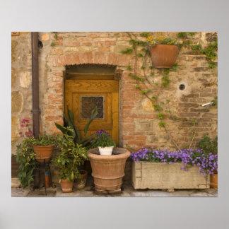 Montefollonico, d'Orcia de Val, provincia de Siena Posters