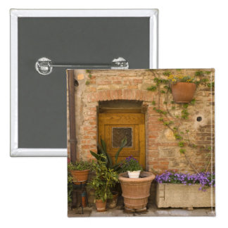 Montefollonico, Val d'Orcia, Siena province, 2 2 Inch Square Button