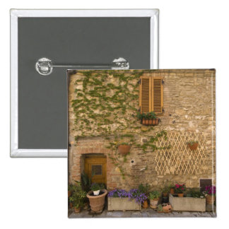 Montefollonico, Val d'Orcia, Siena province, 2 Inch Square Button