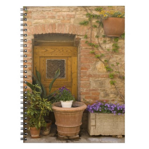 Montefollonico, Val d'Orcia, Siena province, 2 Spiral Note Book