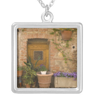 Montefollonico, Val d'Orcia, Siena province, 2 Square Pendant Necklace