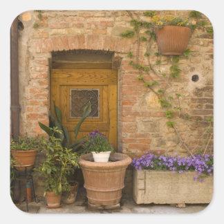 Montefollonico, Val d'Orcia, Siena province, 2 Square Sticker