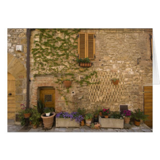 Montefollonico, Val d'Orcia, Siena province, Greeting Card