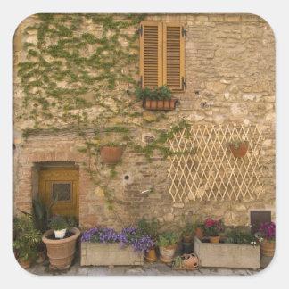 Montefollonico, Val d'Orcia, Siena province, Square Sticker