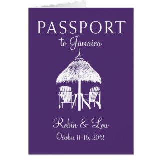 Montego Bay Jamaica Passport Birthday Trip Present Card