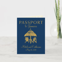 Montego Bay Jamaica Passport Wedding Invitation