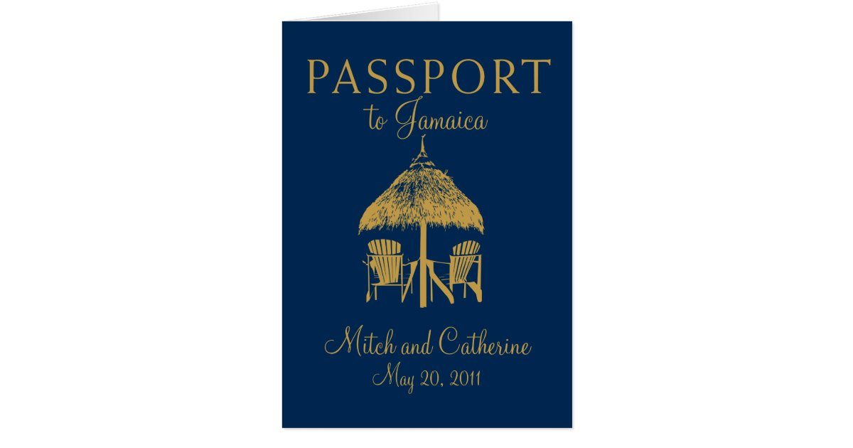 Montego Bay Jamaica Passport Wedding Invitation – Passport Wedding Invites