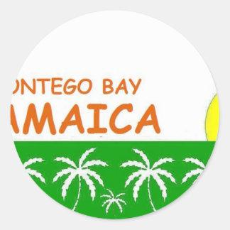 Montego Bay, Jamaica Pegatina Redonda