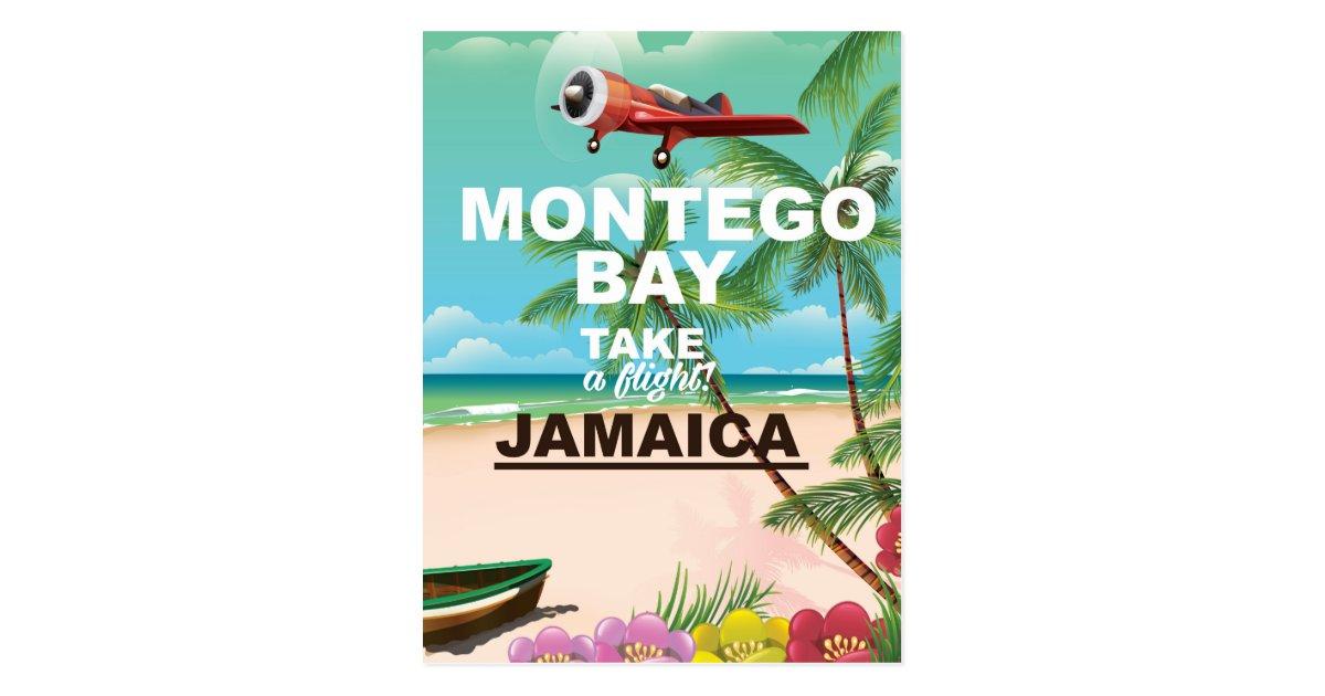 Montego Bay Jamaica vintage travel poster Postcard | Zazzle