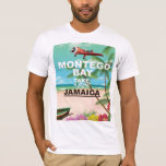 Montego Bay Jamaica vintage travel poster T-Shirt