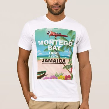 bartonleclaydesign Montego Bay Jamaica vintage travel poster T-Shirt