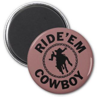 Móntelos vaquero - rodeo occidental imán redondo 5 cm