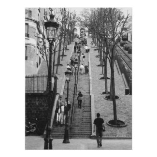 Montemarte, Paris poster print