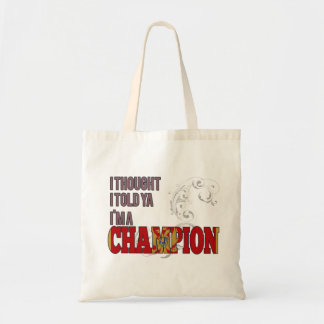 Montenegrin and a Champion Tote Bags