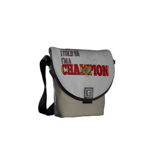 Montenegrin and a Champion Courier Bag