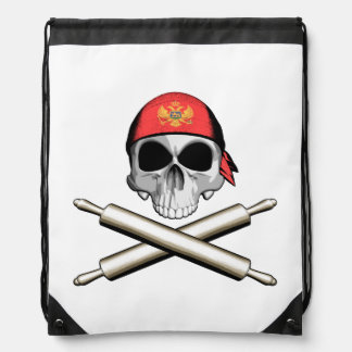 Montenegrin Chef 3 Drawstring Backpack