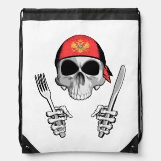 Montenegrin Chef 4 Drawstring Backpacks