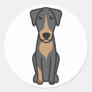 Montenegrin Mountain Hound Dog Cartoon Classic Round Sticker