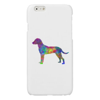 Montenegrin Mountain Hound in watercolor Glossy iPhone 6 Case