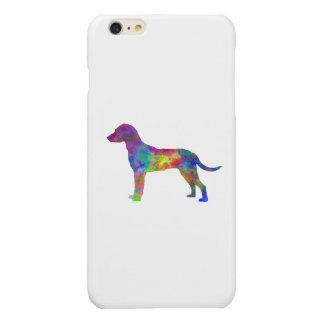 Montenegrin Mountain Hound in watercolor Glossy iPhone 6 Plus Case
