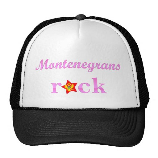 Montenegrins Rock - Cute Pink Trucker Hat