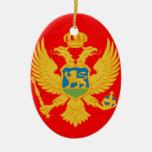 Montenegro Adorno Navideño Ovalado De Cerámica