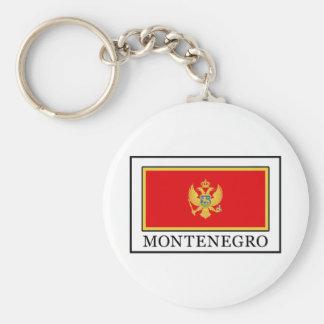 Montenegro Basic Round Button Keychain