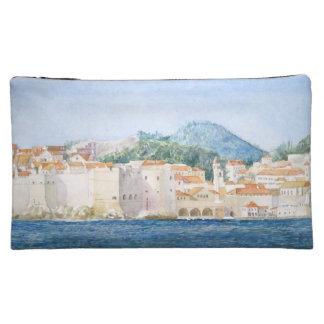Montenegro Budva watercolor landscape Cosmetic Bags