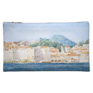 Montenegro Budva watercolor landscape Cosmetic Bag