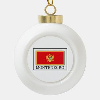 Montenegro Ceramic Ball Christmas Ornament