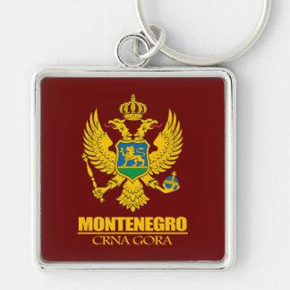 Montenegro COA Silver-Colored Square Keychain