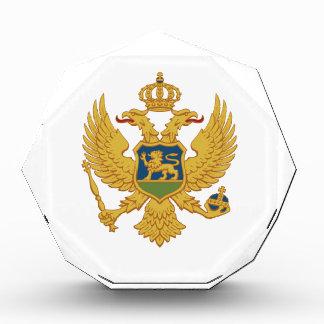Montenegro Coat of Arms Acrylic Award